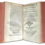 Catalogue des livres de feu Monsieur l'Abbé de La Caille [...], Paris : Vve Damonneville, 1762. et pour les crédits : Avec l'aimable autorisation de la Bibliothèque Sainte-Geneviève.