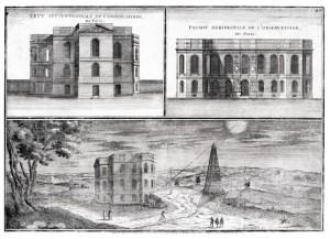 L'Observatoire de Paris au début du XVIIIe siècle.
