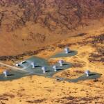 L'instrument KAT7 en Afrique du Sud, précurseur de MeerKAT et de SKA.