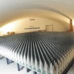 Un élément d'un réseau phasé dense d'antennes du projet SKA aux essais à la station de radioastronomie de Nançay.