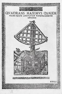 Le Quadrans Maximus de Tycho Brahe, ancêtre des instruments de La Caille. D'après Tycho Brahe, Astronomiae Instauratae Mechanica (1598).