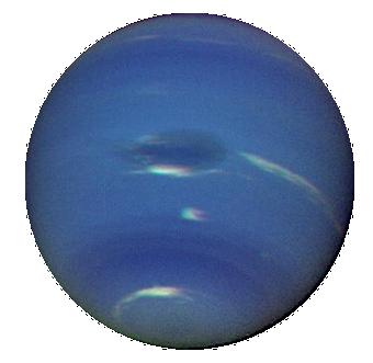 Neptune, photographie prise par la sonde Voyager 2, le 14 août 1989 ...