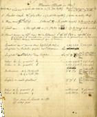 Manuscrit de Le Verrier - Mercure